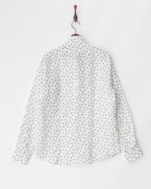 ホワイト系 リネンシャツ SLIM S4121見る