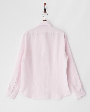 ピンク  リネンシャツ SLIM Atene見る