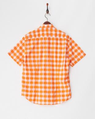 オレンジ 半袖シャツ Camicia見る