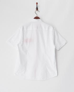 ホワイト  半袖シャツ SLIM PUNTO CLASSIC見る