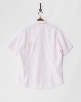 ピンク  半袖シャツ SLIM PUNTO CLASSIC見る