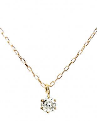 K18YG  天然ダイヤモンド ネックレス0.1ct + Pt900 ピアス計0.1ct(計2点セット)見る