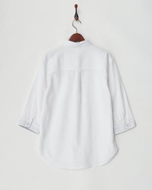 シロ  ワッフル織7分袖シャツ見る