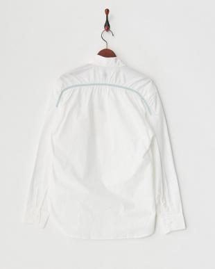WHITE  配色パイピングシャツ見る