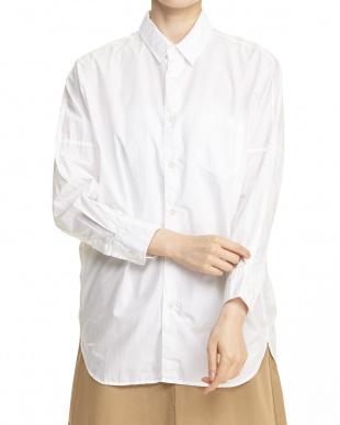 WHITE  ドロップカラーワイドシャツ見る