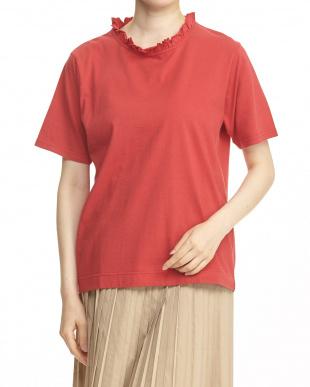 RED フリル衿カットソー見る