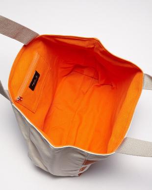 オレンジ  IH09-02 ワイドボーダートートバッグ見る