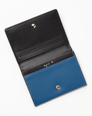 ブルー JH01-07 カードケース見る