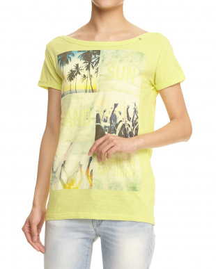BRIGHT YELLOW LIRIKA THE SUN T-SHIRT見る