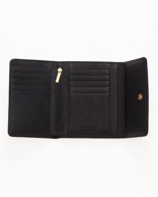 ブラック  三つ折り財布<Amanda purse>見る