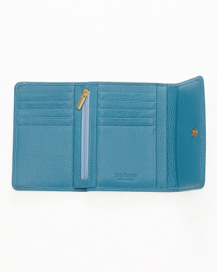 ブルー  三つ折り財布<Amanda purse>見る