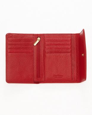 レッド  三つ折り財布<Amanda purse>見る