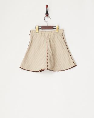 チャ バイアス柄スカート見る