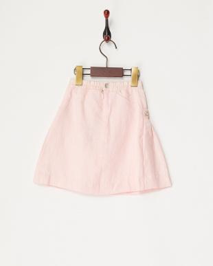 ピンク ポケット花デザインスカート見る