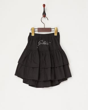 クロ  バックストーンロゴスカート見る