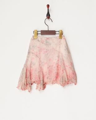 ピンク 楊柳フラワースカート見る