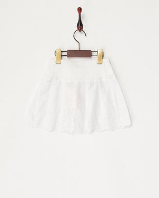 シロ リブ&カットワークコンビスカート見る