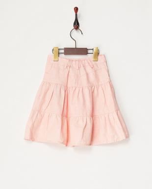 ピンク ビジューンボタンスカート見る