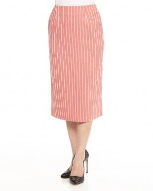 ピンク  Summerストライプタイトスカート見る