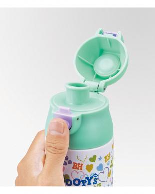 超軽量調乳用ロック付ワンプッシュステンレスボトル スヌーピー見る