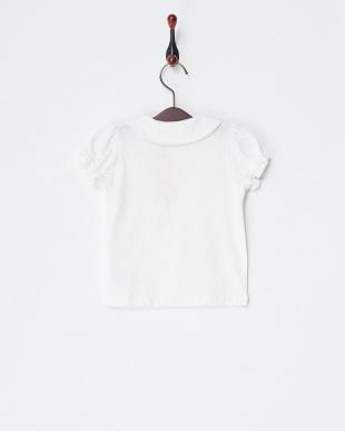 シロ×シロ  丸衿刺繍半袖ブラウス見る