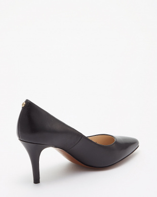 BLACK LEATHER  GEMMA LOGO PUMP(PRIETA PUMP II)見る
