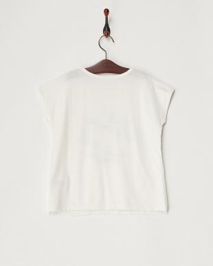 シロ シフォン重ねプリントTシャツ(140以上)見る