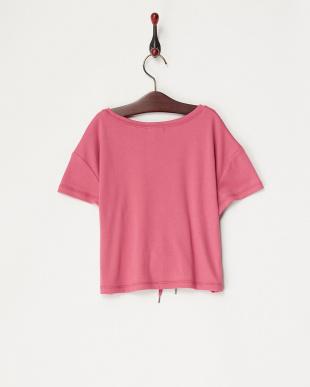 ピンク  コルセットベルト風Tシャツ(130以下)見る