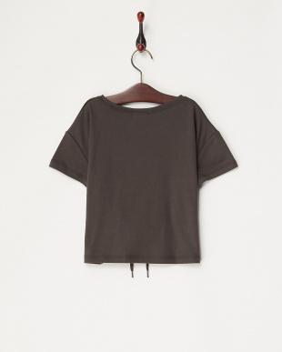 グレー  コルセットベルト風Tシャツ(130以下)見る