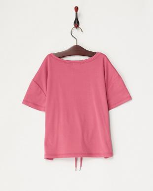ピンク コルセットベルト風Tシャツ(140以上)見る