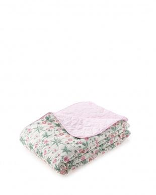 ピンク  デイジー マルチカバー 200×200cm見る