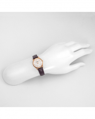 シルバー HAMPSTEAD レザーバンド腕時計見る
