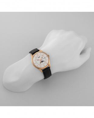 シルバー RICHMOND レザーバンド腕時計見る