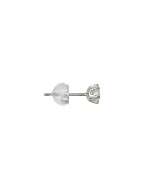 Pt900 計0.5ctダイヤモンド  6本爪スタッドピアス見る