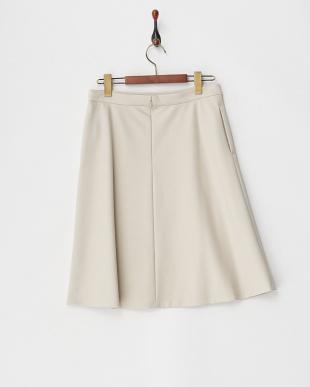 ベージュ シャイングログラン台形スカート見る