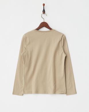 BROWN  裾プリント長袖Tシャツ|WOMEN見る