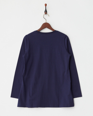NAVY  リーフプリント長袖Tシャツ|WOMEN見る