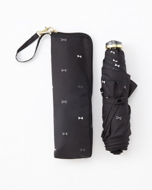 BK  RIBBON DOT SF3段折りたたみ傘 雨晴兼用見る