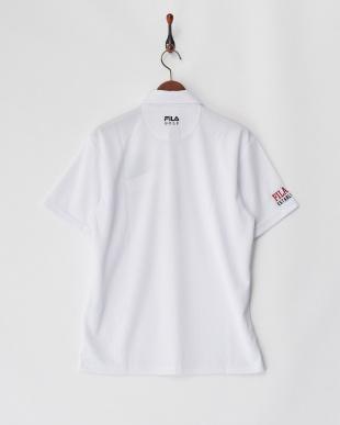 WT  メンズ ロゴ入りシャドーチェック柄ポロシャツ 吸汗速乾 UVカット見る