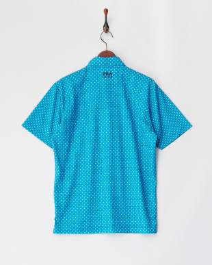BL  メンズ 刺繍入り ドットプリントポロシャツ 吸汗速乾 UVカット見る