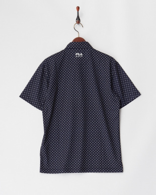 NV  メンズ 刺繍入り ドットプリントポロシャツ 吸汗速乾 UVカット見る