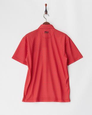 RD  メンズ 刺繍入り ドットプリントポロシャツ 吸汗速乾 UVカット見る