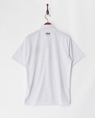 WT  メンズ 刺繍入り ドットプリントポロシャツ 吸汗速乾 UVカット見る