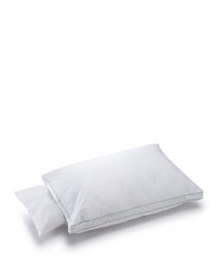 ホワイト ホテルテイスト やわらかリッチ枕 43×63cm見る