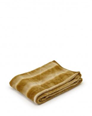 ゴールド FEEL FUR ニューマイヤー毛布 シングル見る