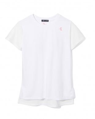 WHITE  DRYメッシュドルマンTシャツ・吸汗速乾見る