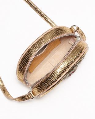 ゴールド チェリービジュー装飾バッグ見る