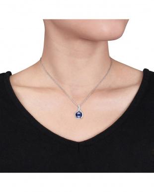 ブラックパール(9-9.5mm)+ダイヤモンド(0.025ct) ネックレス見る