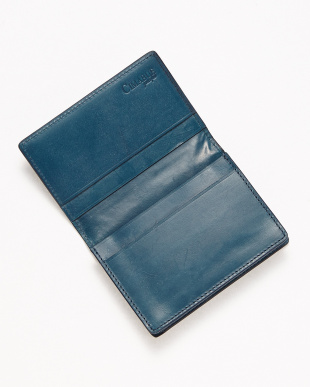 ブルー ブライドルレザー カードケース見る