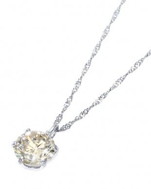 Pt999 純プラチナ 天然ダイヤモンド 0.5ct 6本爪 ネックレス(チェーンPt850)見る